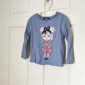 3/$15 George girls longsleeve t-shirt size 2-3 years